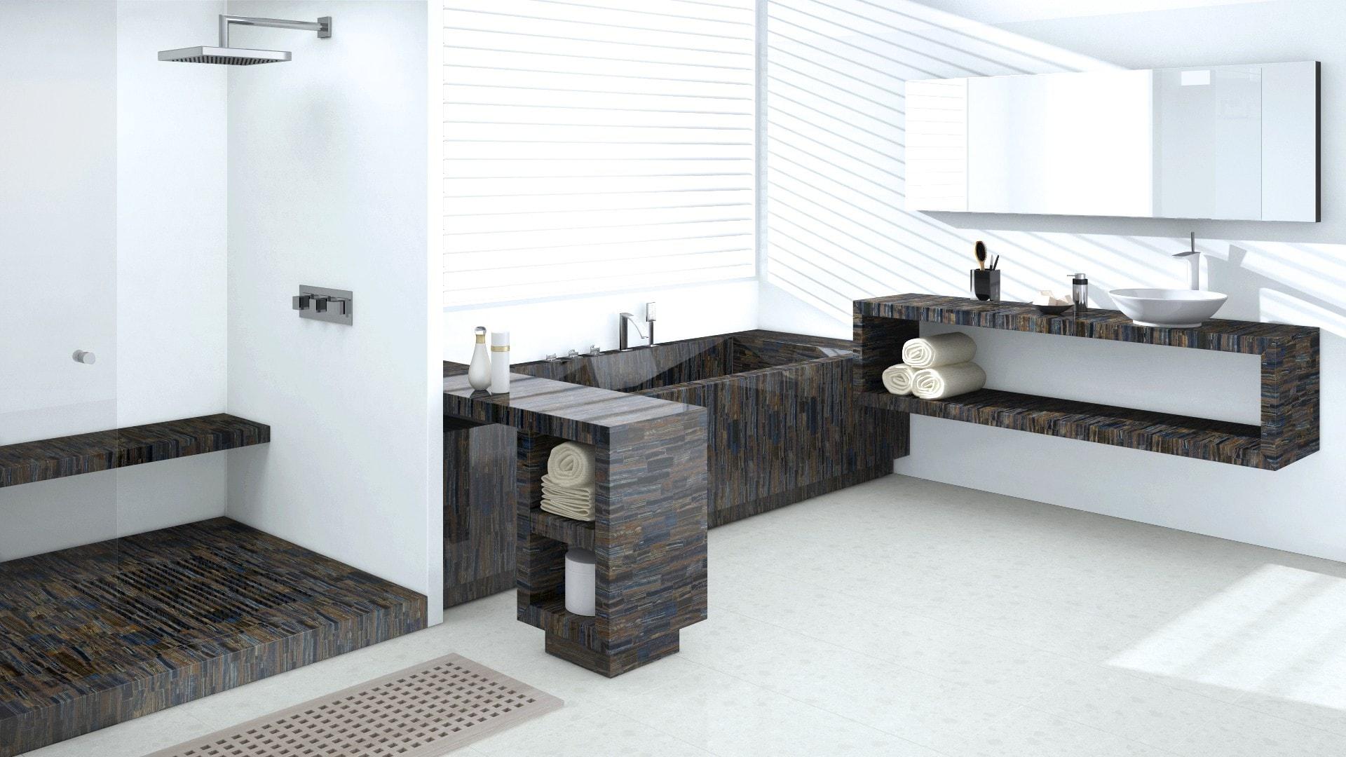 Сaesarstone Countertop Stone modern bathroom design