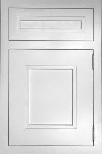 Light metallic grey craft-maid kitchen cabinets