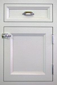 Grey craft-maid kitchen cabinets