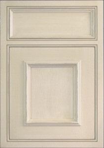 light grey craft-maid kitchen cabinets