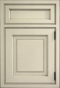 metallic grey craft-maid kitchen cabinets