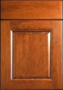 medium brown craft-maid cabinets