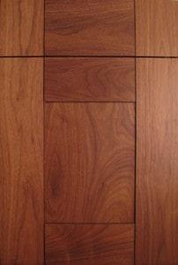 dark wood craft-maid cabinets