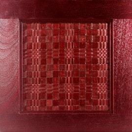 craft-maid red kitchen cabinet