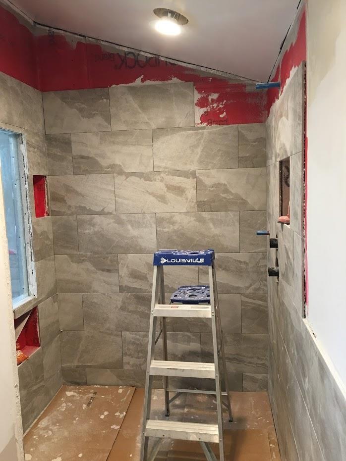 Almost complete shower room setup