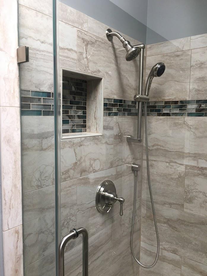 modern shower room setup