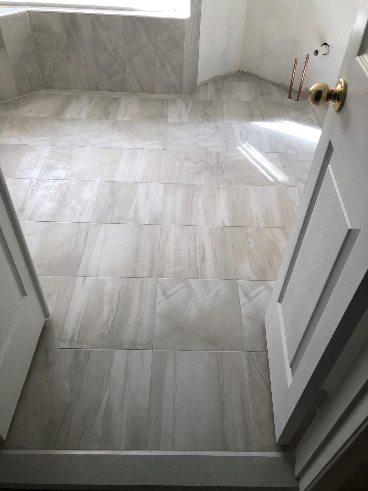 Bathroom finished flooring