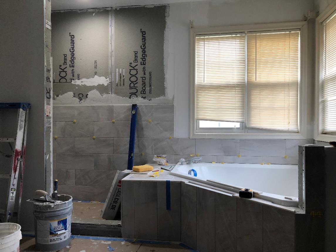 Bathroom walls remodeling