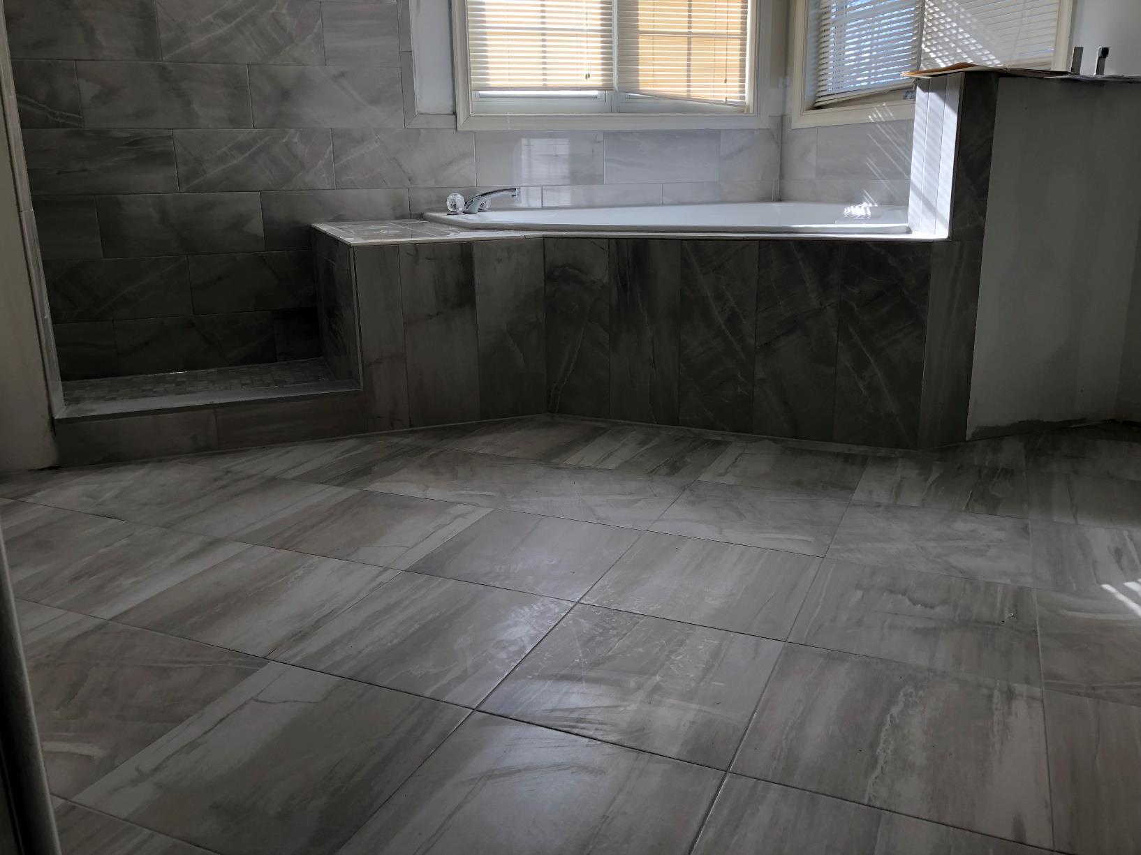 Unfinished bathroom remodeling project