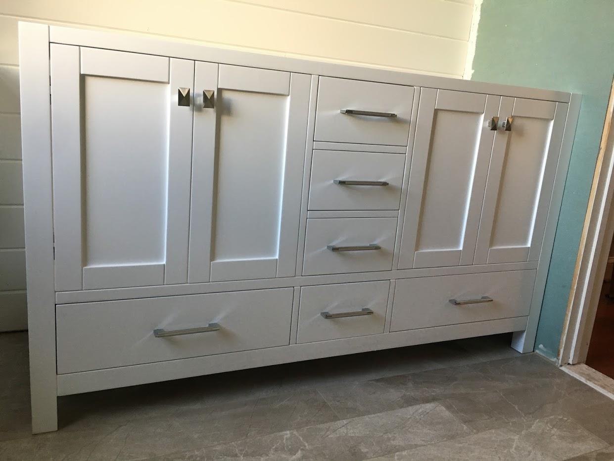 bathroom cabinets installation