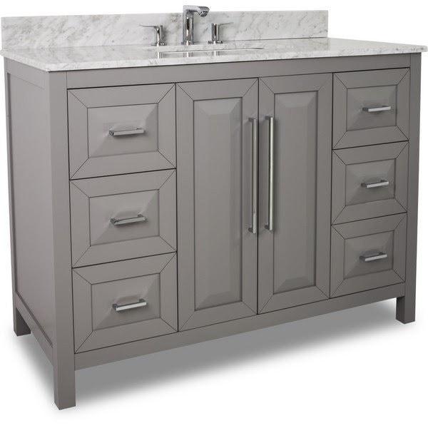 Bathroom Vanities marble sink and grey cabinets