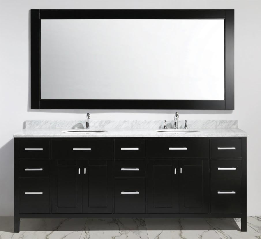 Bathroom Vanities dual marble sink multilayer wooden drawers