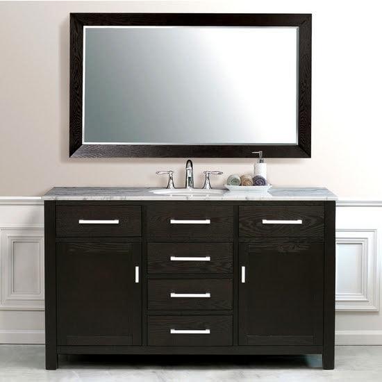 Bathroom Vanities wooden cabinet and drawers setup