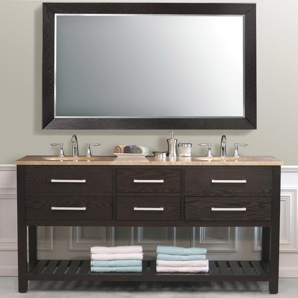 Bathroom Vanities dual sink wooden cabinets
