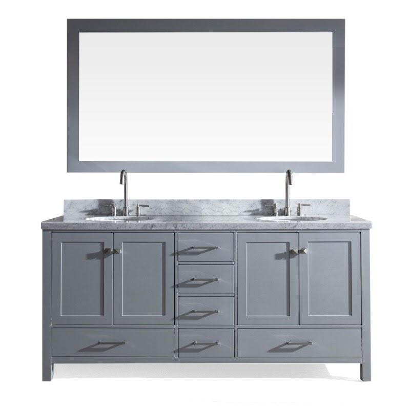 Bathroom Vanities grey dual sink model