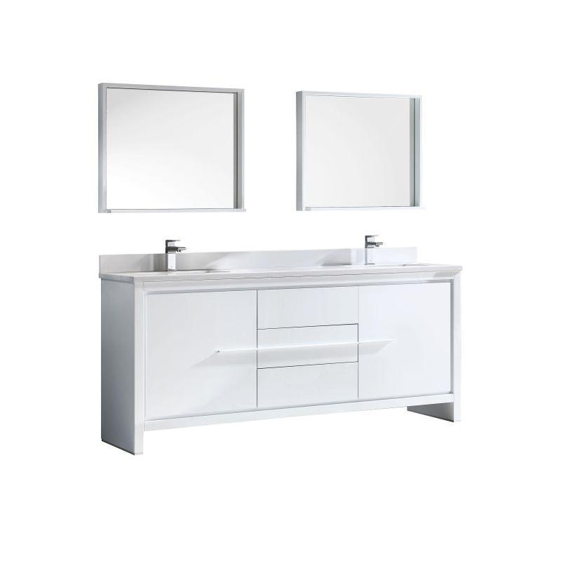 Bathroom Vanities white setup