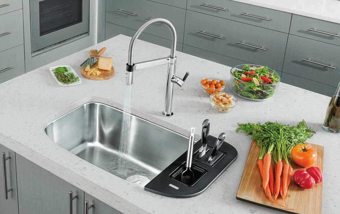 Single basin Gourmet Blanco Sinks