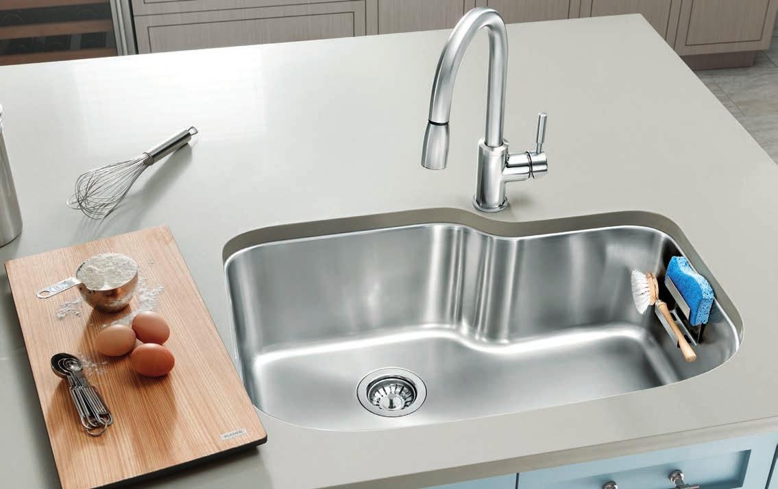 Single Basin Blanco Sinks with cartridge faucet