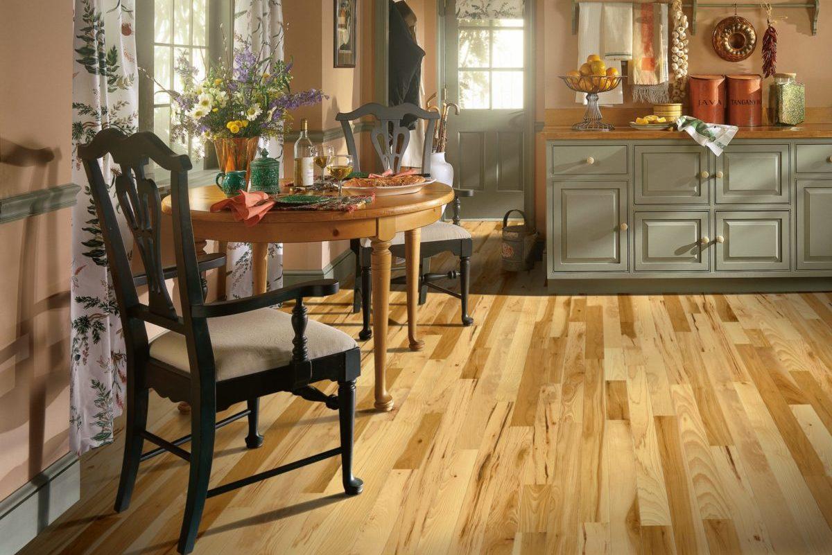 Bruce Hardwood kitchen design neutral colors accent