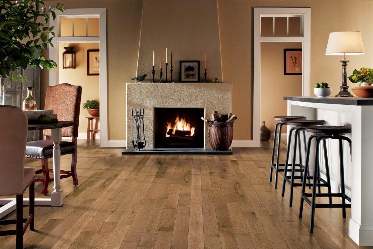 Bruce Hardwood kitchen design with furnace