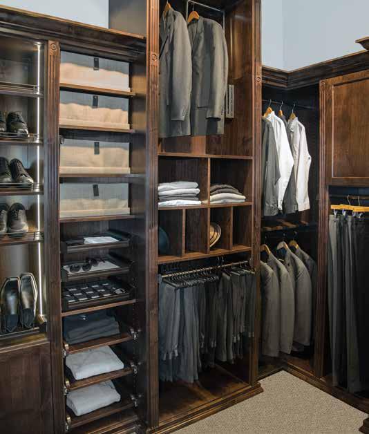 Custom closet and dressing room for men's business attire