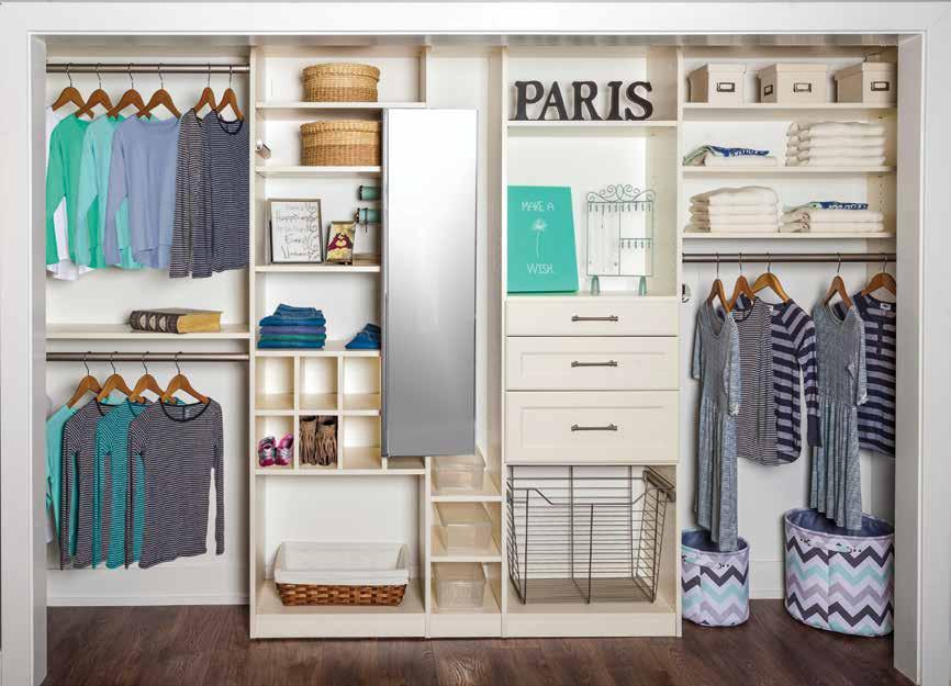 Custom closet and dressing room for female teens
