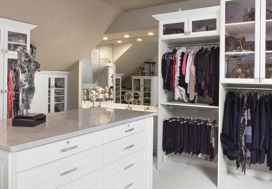 Custom closet small space dressing room