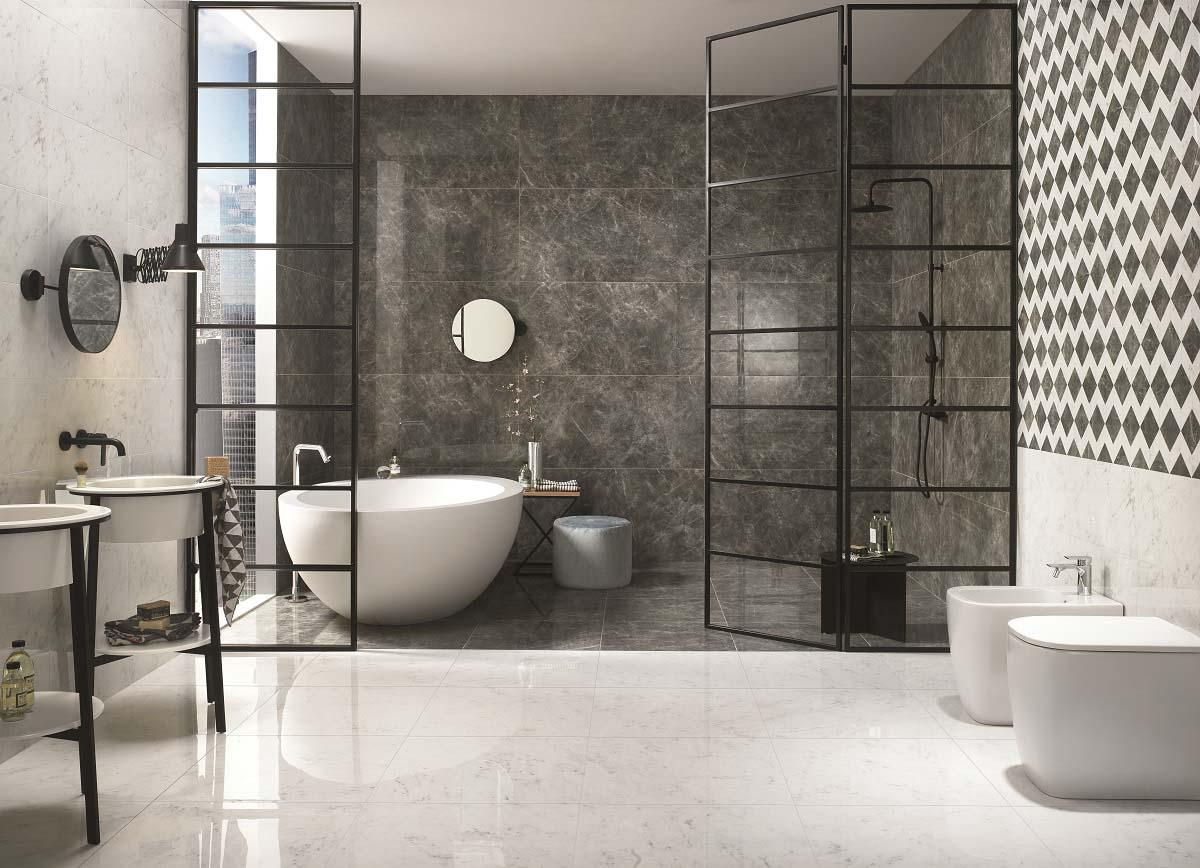 Contemporary bathroom design with Conestoga tile