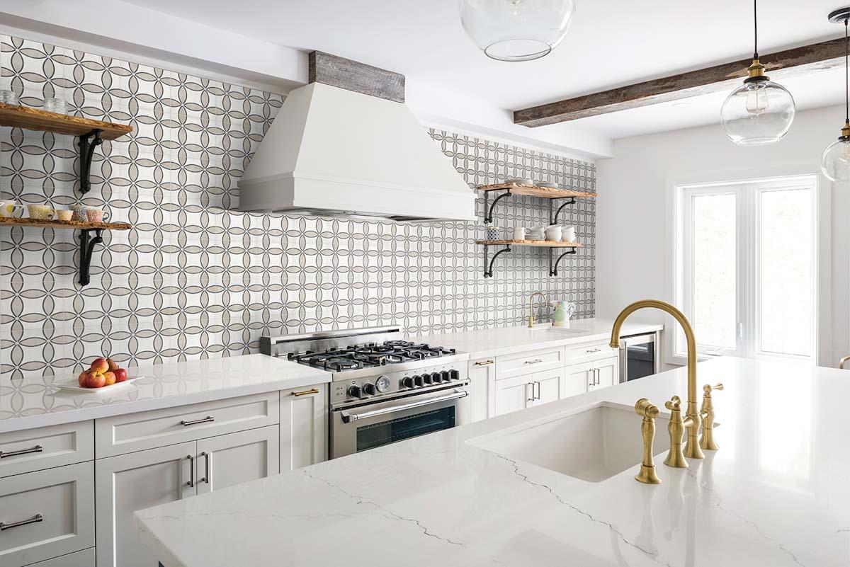 Classic white contestoga tile kitchen design