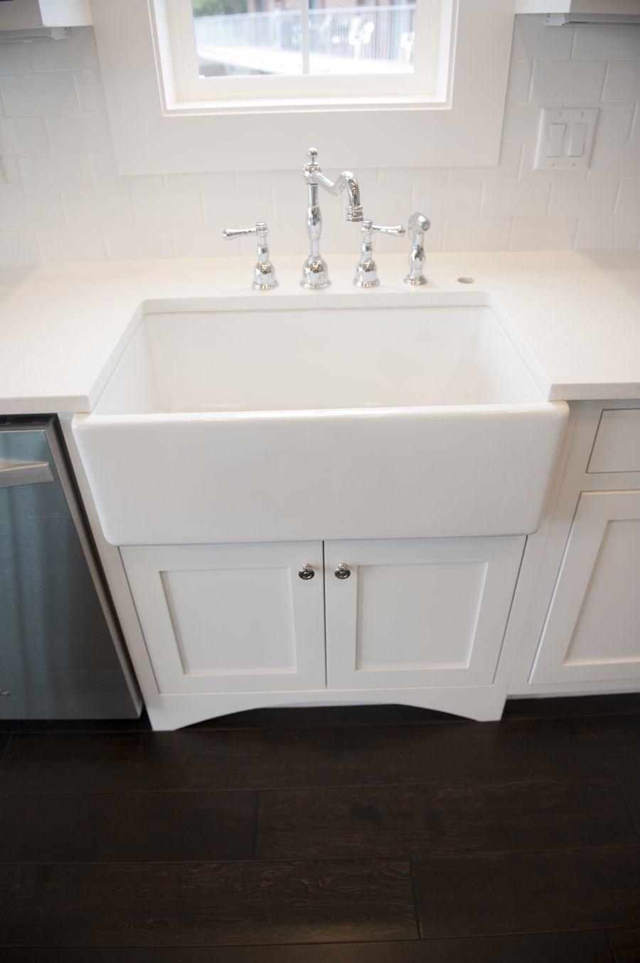 Danze Faucets classic white kitchen design