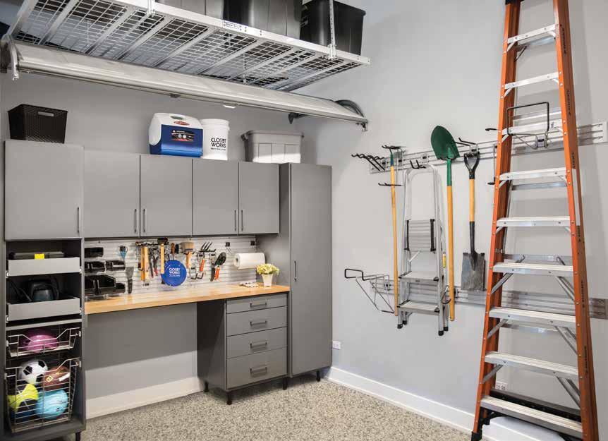 Garage storage with custom closets