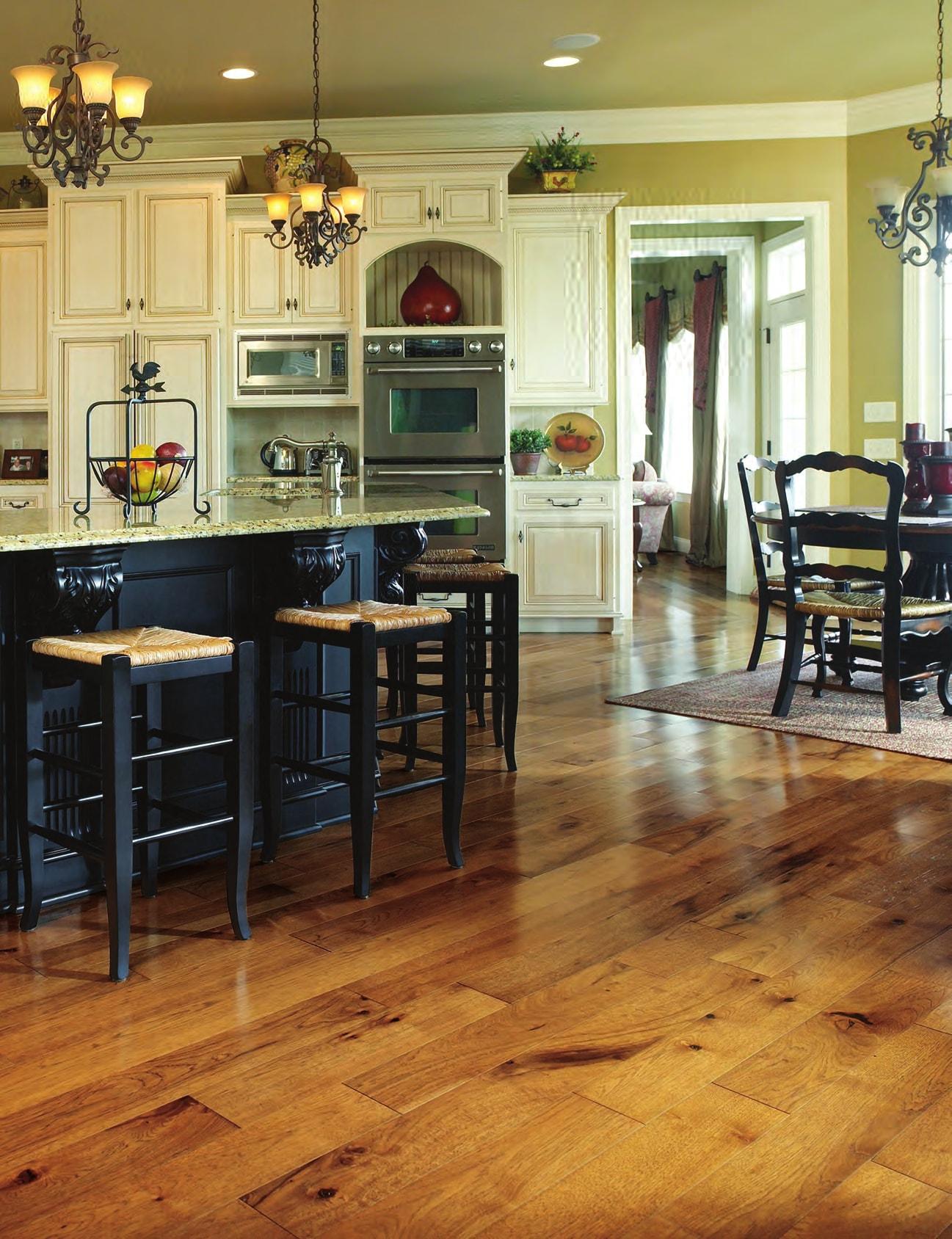 Homer Wood vintage kitchen design with chandelier
