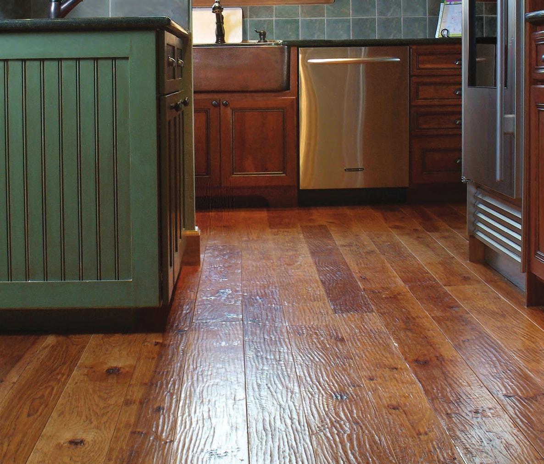 Homer Wood simple kitchen space flooring