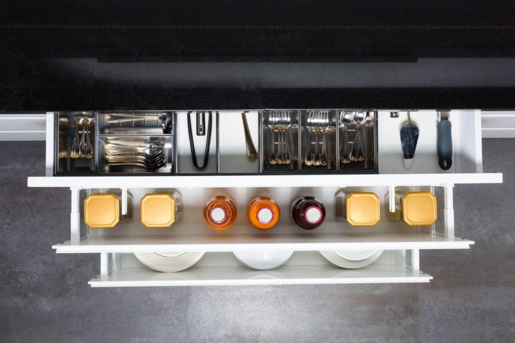 Multi-layer kitchen cabinet storage drawers