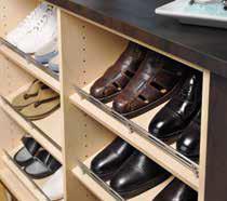 Slanted Shoe Shelves with Fence
