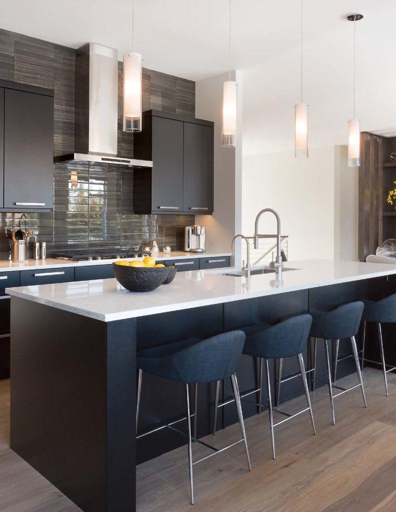 Vista modern Kitchen cabinets with vinyl tiles