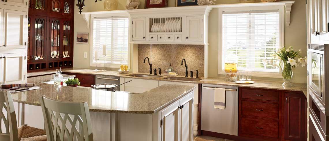 Modern kitchen design with Alexandria inset door style