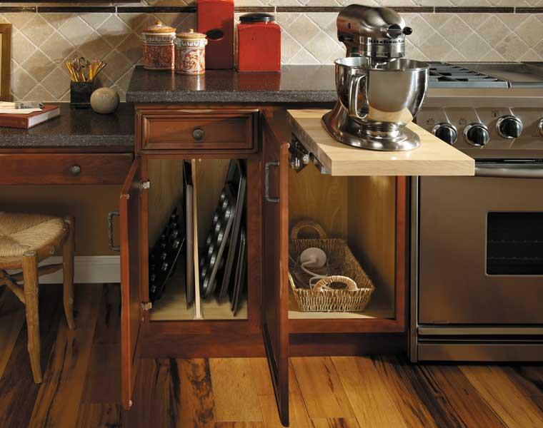 Base Mixer Shelf with baking equipment