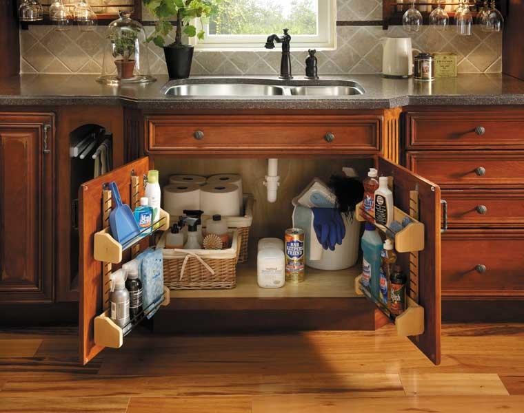 Sink/Range Base with Spice Shelves
